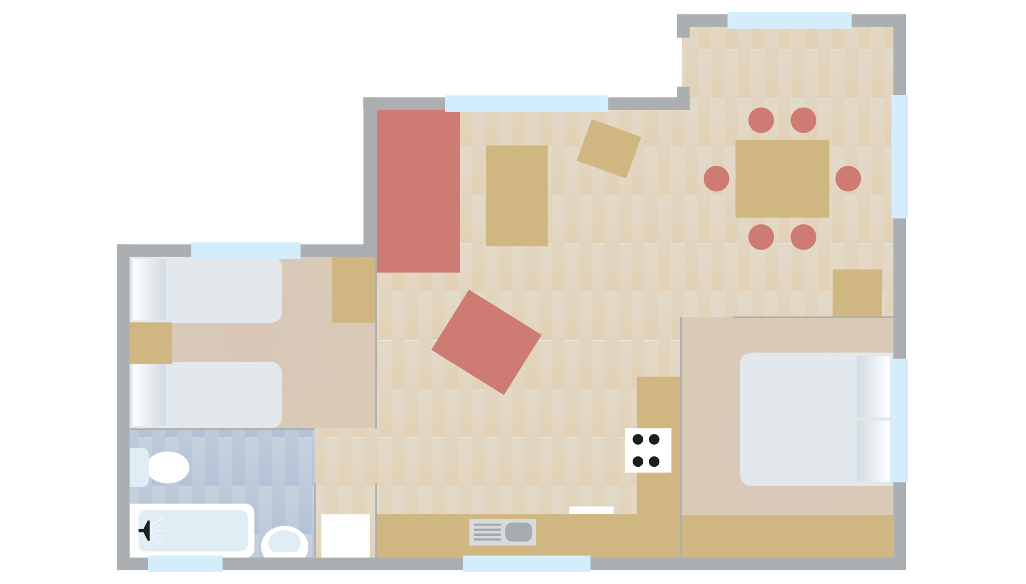 Waney Edge Chalet Floorplan
