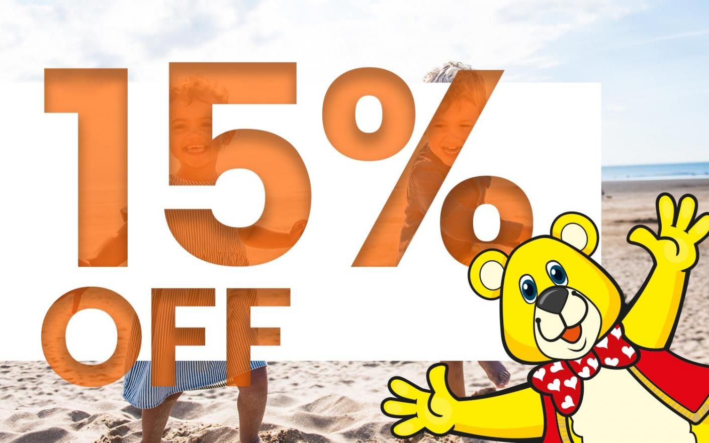 15% off special offer at Woolacombe Sands Holiday Park Devon