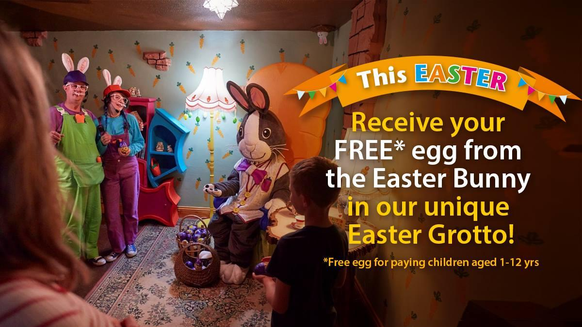 Easter Grotto, Treasure Hunt & much more at The Milky Way Adventure Park