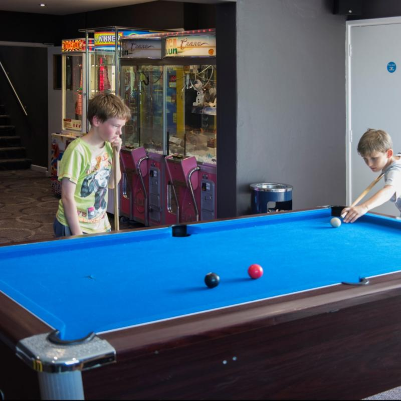 Pool tables at Woolacombe Sands Holiday Park