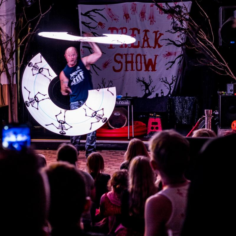 Merlin Freak Show at Woolaocombe Sands Holiday Park North Devon