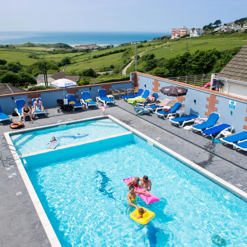 Swimming pool at Woolacombe Sands Holiday Park Devon