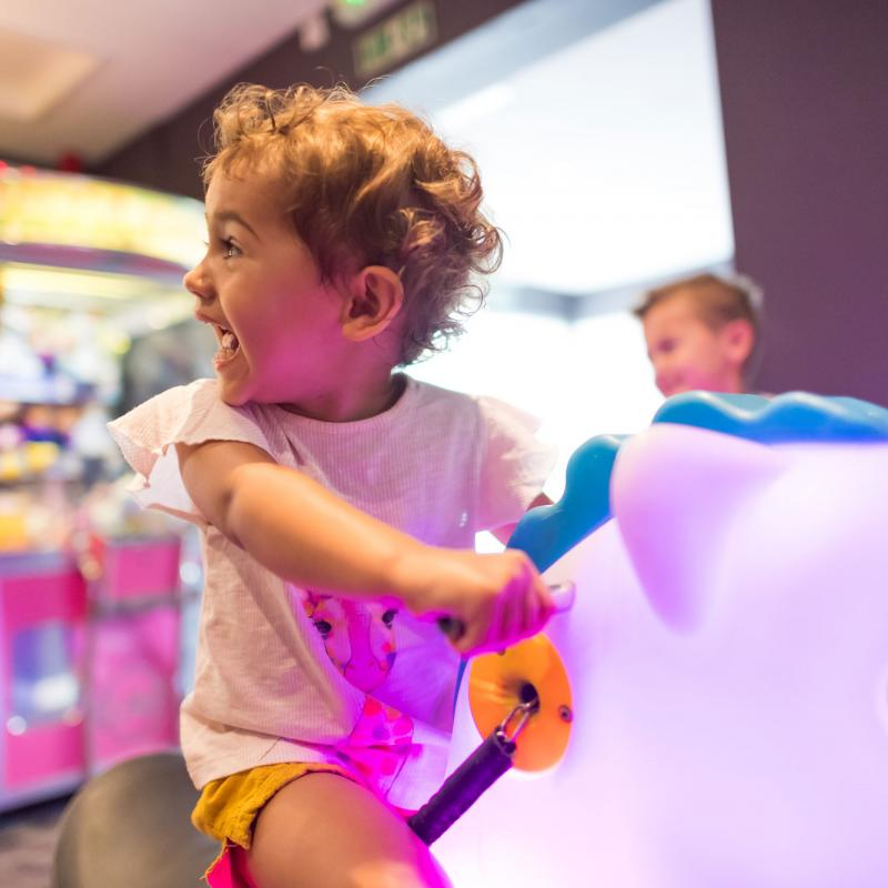 arcade rides at Woolacombe Sands Holiday Park
