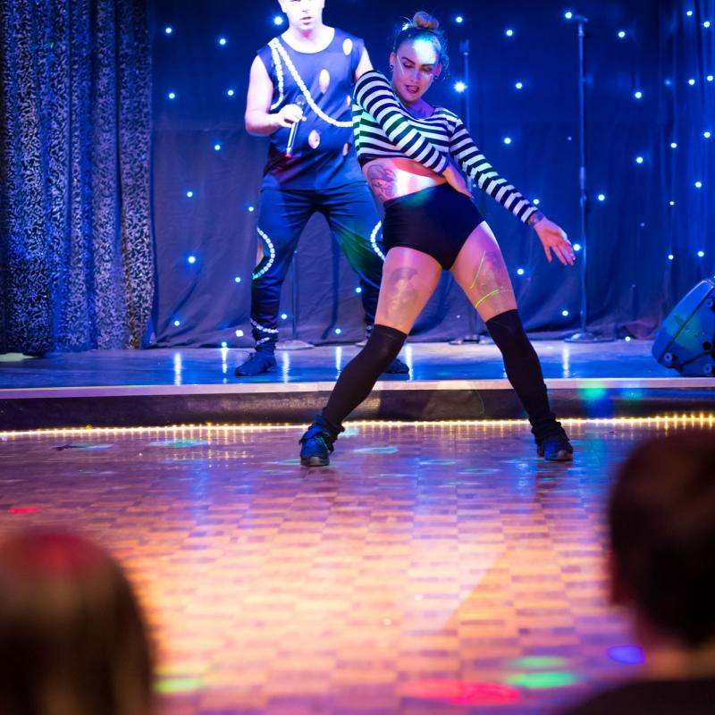 Cabaret show at Woolacombe Sands