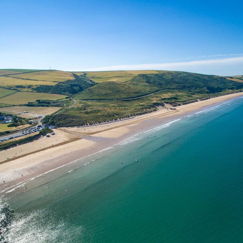 Aerial View of Woolacombe Beach