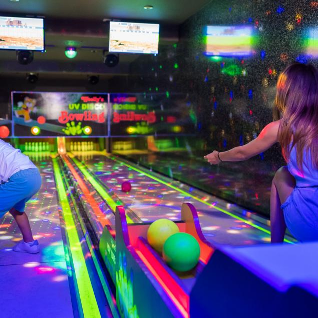 UV Bowling at Woolacombe Sands Holiday Park