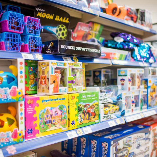 Toys and games at the Woolacombe Sands Holiday Park Shop