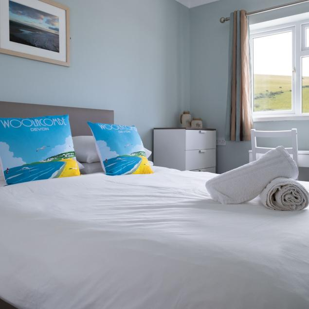 Double Bedroom in Woolacombe Sands Sea View Chalet