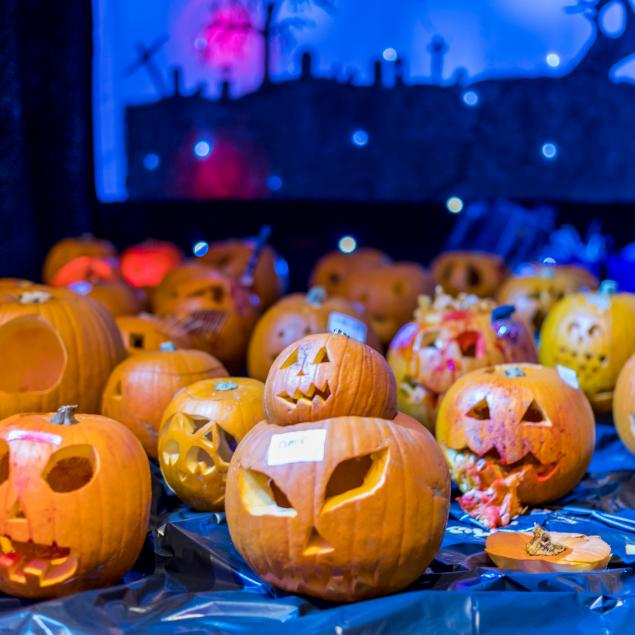 Pumpkin carving competition at Woolacombe Sands Holiday Park