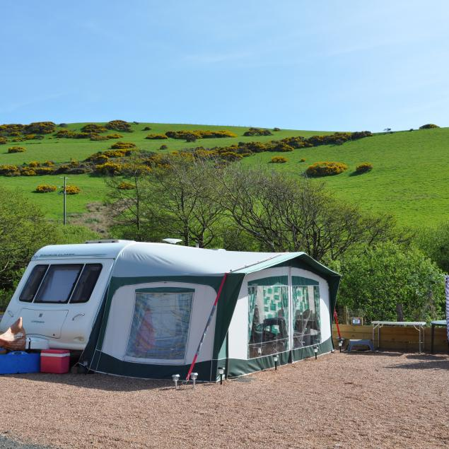 Seasonal touring pitches at Woolacombe Sands Holiday Park