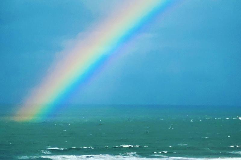 Rainbow in October over the Sea in Woolacombe North Devon