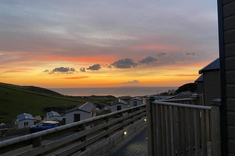 Sunset from Woolacombe Sands Holiday Park