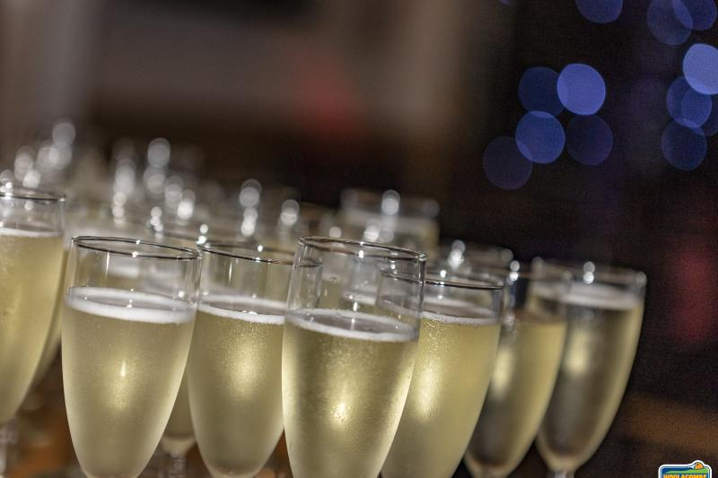 Prosecco reception served at Woolacombe Sands Holiday Park
