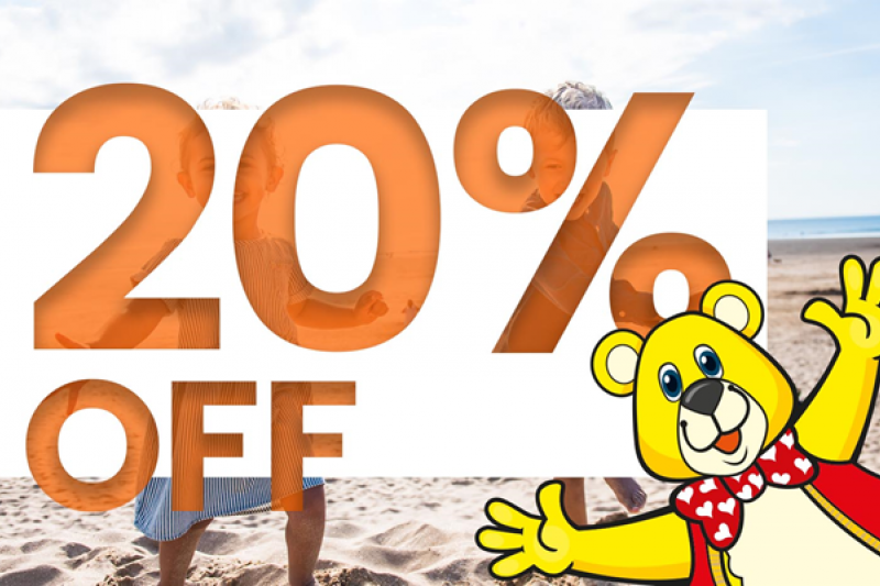 20% Discount for Van Store Customers at Woolacombe Sands